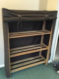 Shelving unit with fabric cover