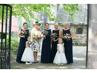 Debenhams navey bridesmaids dress
