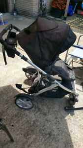 Britax B Ready with carseat attachment