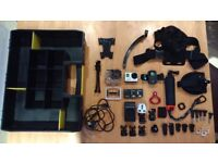 Gopro Hero 3 Black Edition Camera Videocamera 4k with case and accessories