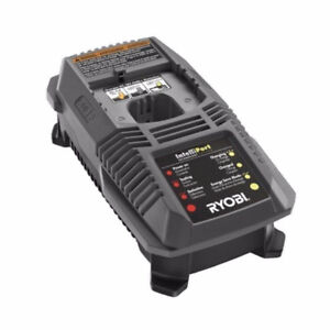 NEW RYOBI ONE+ 18V INTELLIPORT DUAL CHEMISTRY BATTERY CHARGER P1