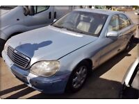 FOR BREAKING OR SPARES - MERCEDES S 320 2001 CDi AUTOMATIC DIESEL 3.2 197 BHP