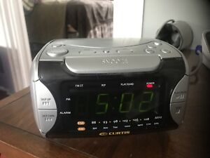 Curtis AM FM Stereo Compact Disc Clock Radio