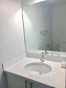 A bright bedroom with 2pc bathroom for rent