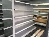 Retail shelving, double sided Gondola. Cheapest available on Gumtree and on the internet.