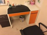 3 chairs and 3 desk for sale