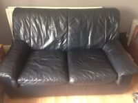 2&3 seater sofas navy leather