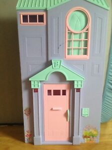 Pink and purple doll house
