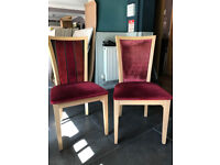 Restaurant dining chairs - red fabric