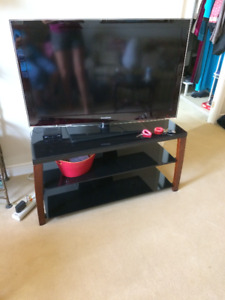 tv stand glass 3 sheves
