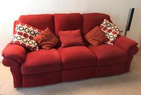 Electric reclining sofa suite