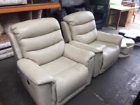 Pair of electric la z boy reclining armchairs ( new )