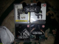 PS3 Controller + 4 Games