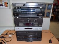 AV Receivers - Amplifiers - Tuners - All Working - Will Split