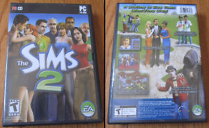 Sims 2 + Unleashed expansion pack games for PC