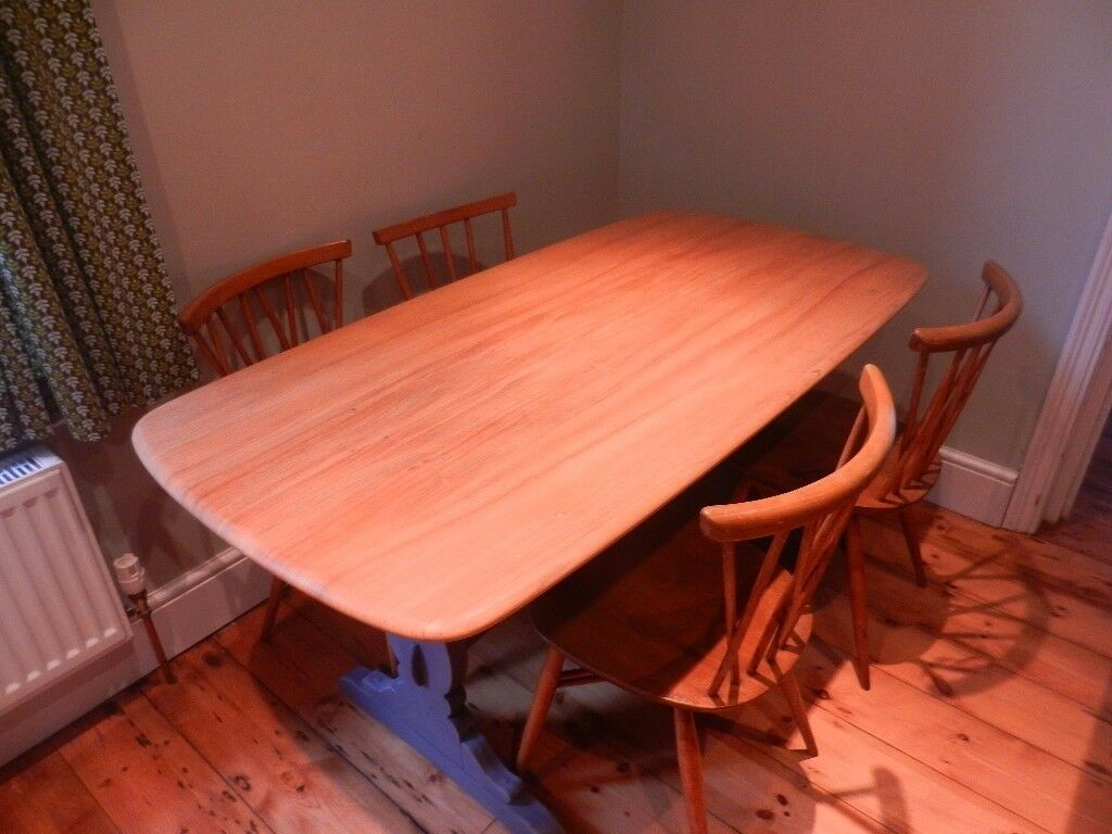 Beautiful Vintage Ercol Colonial Dining Table Chairs Not For Sale