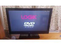 32inch LOGIK HD LED TV DVD Combi