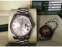 Rolex Day date president 18k white gold B&P