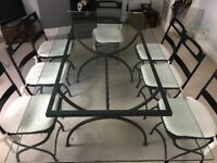 Glass dining table to seat 8