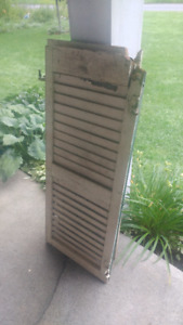 Louvered shutters  $16 each