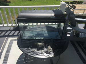 Fish Tank (80L) with heater, pumps, filter box and cover light