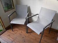 Garden chairs. John Lewis