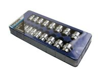 "BERGEN 17 Pcs Tool 3/8"" Dr Shallow Sockets 6 Point Hex Tool Set 8-24mm 1152"