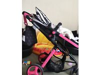 Cosatto pram carry cot an car seat