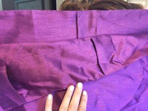 Purple Sateen Curtain Panels