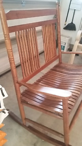 Pine double rocking chair