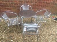 Lovely garden table and 4 chairs. Bistro Set.
