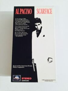 SCARFACE VHS DOUBLE CASSETTE HOME VIDEO AL PACINO
