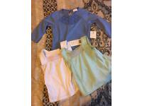 Baby girl 6-9 months tops new with tags