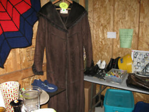 Suede Coat with Pile lining