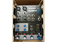 Alesis multimix 4 USB Analogue mixer 4-channel