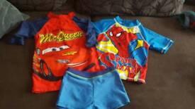 Boys swim bundle with towels 2-3 years