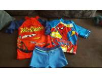 Boys swim bundle with towels 2-3 years