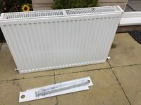 Double convector white radiator 900cm long x 600cm high