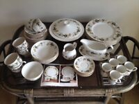 VINTAGE ROYAL DOLTON Bone China 'LARCHMONT' Dinner Service, Tea, Coffee 48 PIECES