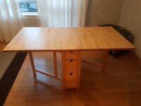 IKEA Norden table in solid birch