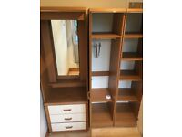 Wardrobe, Single Bed, Double Mattress, PC Desks, TV Stand,Washing M., Leather Armchair,Book Shelves