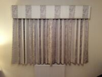 Fully Lined Hand-Made Curtains and Matching Cornice