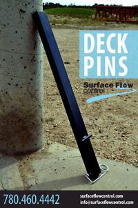 Deck Pins | Surface Flow Control