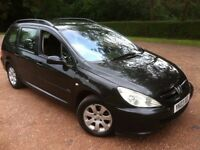 2003 PEUGEOT 307 SW 2.0 HDi TURBO DIESEL ESTATE WITH TOW BAR**11 MONTHS MOT** 65 MPG