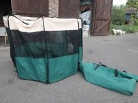 dog's play pen, puppy pop up safe area - use instead of a crate. Folding design, easy storage.