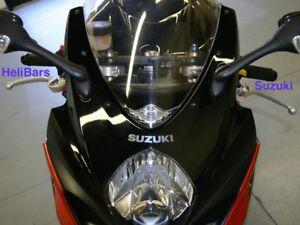 Suzuki GSX-R Helibars TracStar handlebar risers - SUPER COMFY!