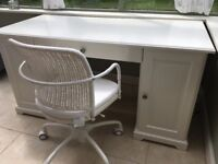 White Office Desk & Chair - £50 (Was £250)