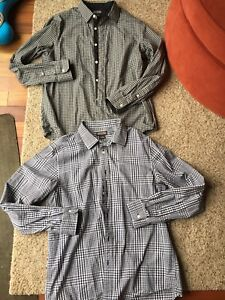 2 Micheal kors dress shirts -size L