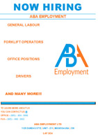 *NOW HIRING* Gen. Labors; Office; Skilled-Labour/ HIGH PAY RATES