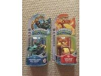 Skylanders Swap Force Volcanic Lava Force Eruptor and Anchors Away Gill Grunt Figures